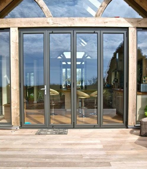 An image showing bifolding doors in Harrow